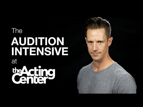 The Audition Intensive at The Acting Center - Jason Dohring - Auditions are not hit and miss anymore