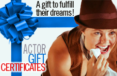 acting classes los angeles, gift certificate for actors, great gift ideas, unique gift idea