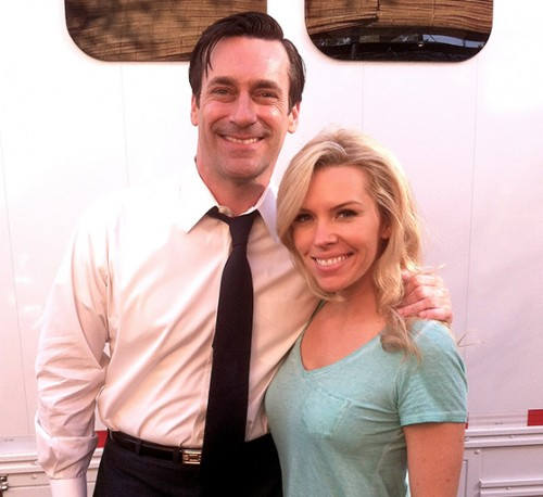 Kirstin Ford with Jon Hamm - The Acting Center Student Spotlight