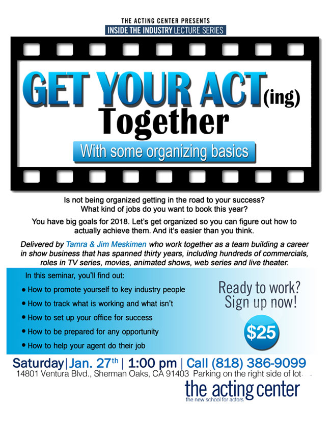 Get Your Acting Together Seminar at The Acting Center