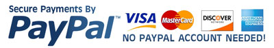 Pay with PayPal - No PayPal Account Needed