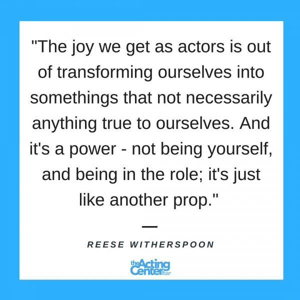 Reese Witherspoon-The joy we get as actors - Meme - The Acting Center
