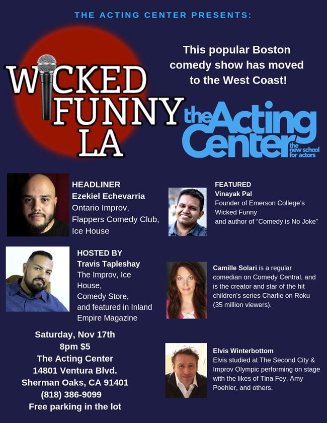 Wicked Funny at The Acting Center - Saturday November 17 2018 - 8pm